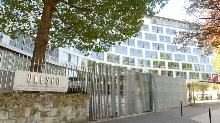 <i>Happening</i> en la sede de la Unesco en París