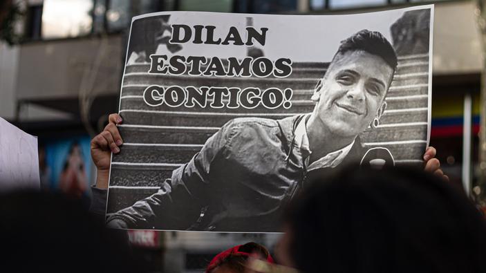Dilan, símbolo de las protestas en Colombia