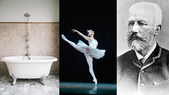 Schwanensee als Badewannen-Ballett