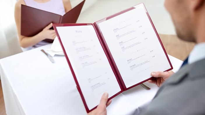 La science des menus et l'avenir des menus de restaurants