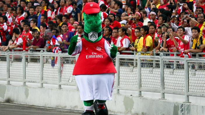 """La mascota del club Arsenal, en peligro de """"extinción"""""""