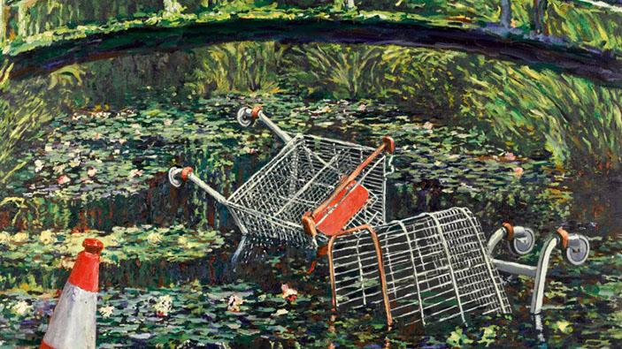 <i>Show Me the Monet</i>, de Banksy, vendido por casi diez millones de dólares