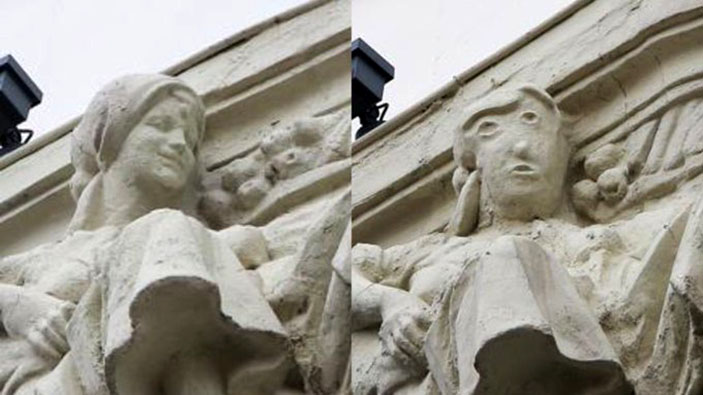 Desastre de una restauración escultórica en Palencia