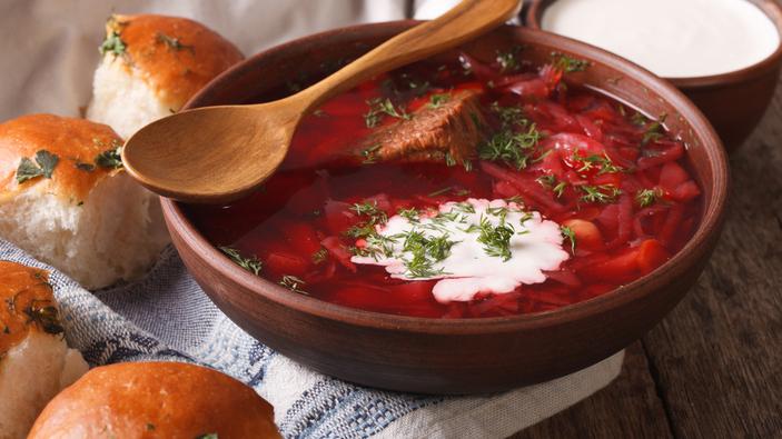 Borschtsch-Koch-Event in der Ukraine