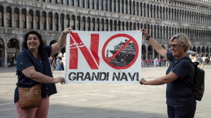 Le grandi navi da crociera ritornano a Venezia