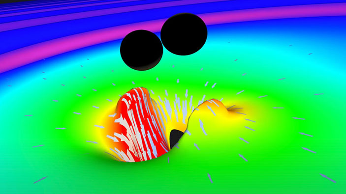 Le onde gravitazionali provano che i buchi neri possono solo crescere nel tempo, come l'entropia